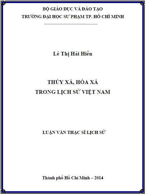 Thủy xá, hỏa xá trong lịch sử Việt Nam