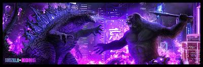 Godzilla vs Kong Giclee Print by Pablo Olivera x Bottleneck Gallery