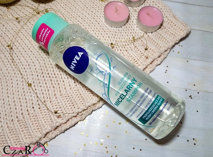 Micelarny szampon  Nivea - prosty sposób na oczyszczenie przetłuszczających się włosów