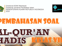 Pembahasan Soal Quran Hadits Kelas VIII  Bab I FASIH MEMBACA AL-QUR'AN DENGAN TAJWID MEMBENTUK SIKAP DISIPLIN KMA 183 2019