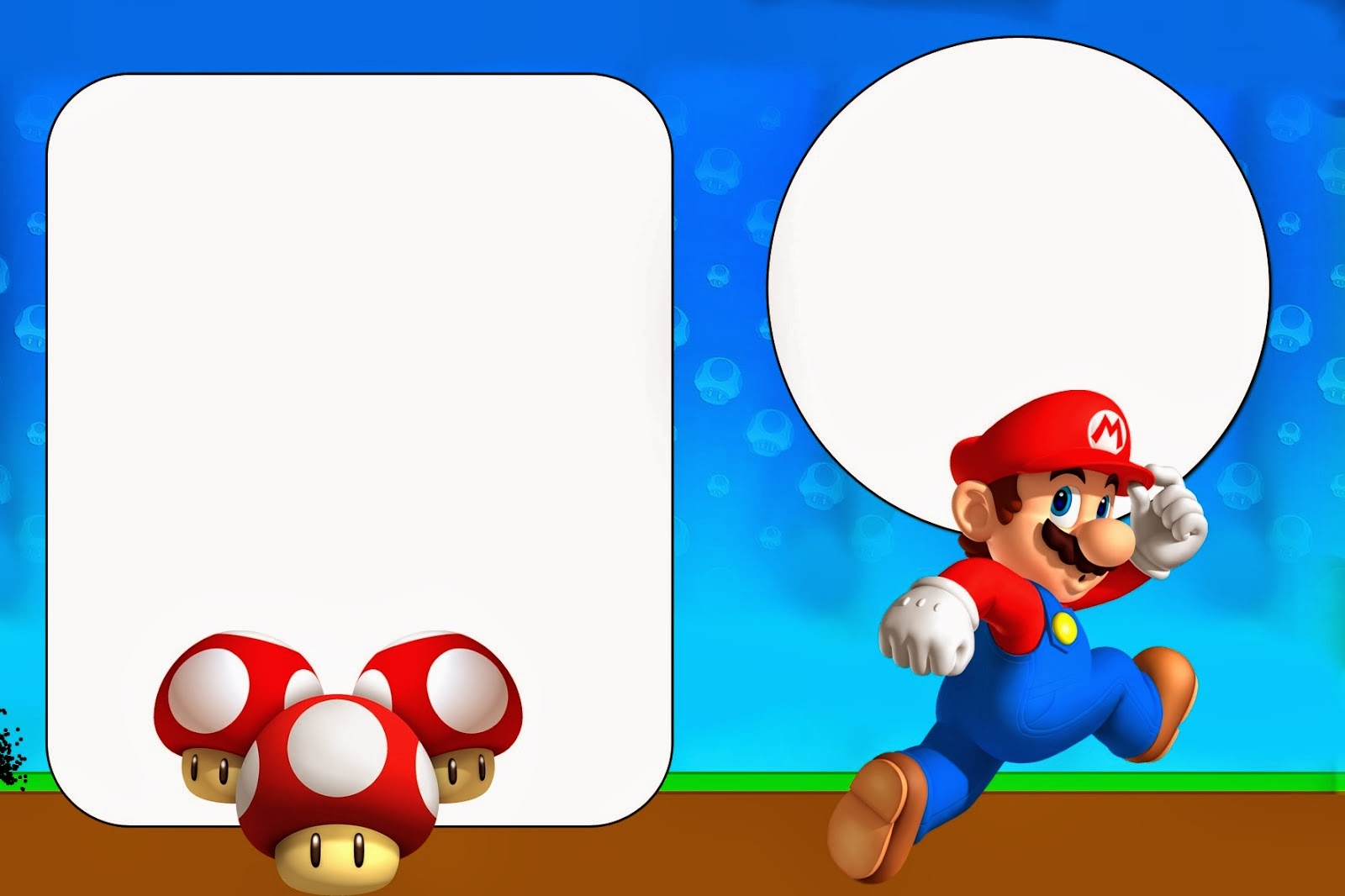 Super Mario Bros Free Party Printables and Invitations. | Oh My ...