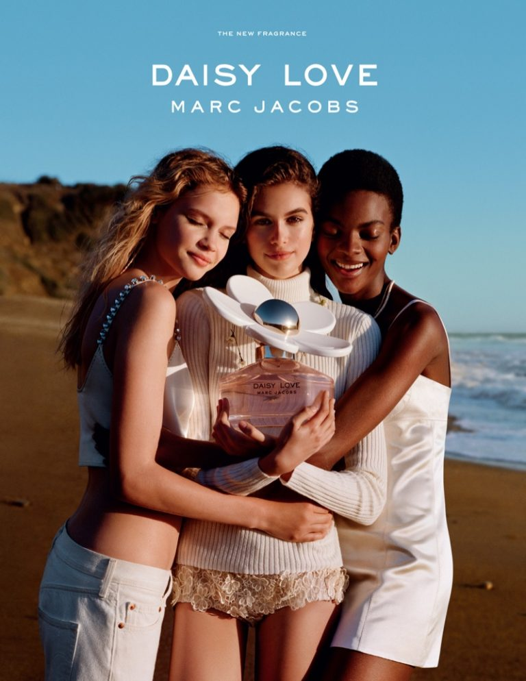 Faith Lynch, Kaia Gerber and Aube Jolicoeur star in Marc Jacobs 'Daisy Love' fragrance campaign