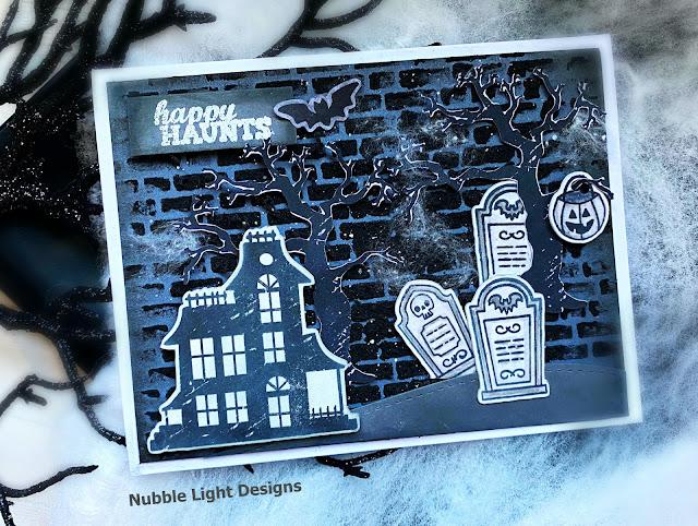 Spooky Halloween Card by September Guest Designer Priscilla Joseph | Spooky Street Stamp Set and Count Newton Stamp Set by Newton's Nook Designs #newtonsnook #handmade