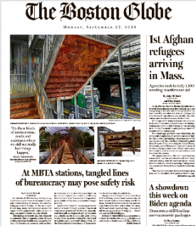The Boston Globe Magazine 27 September 2021
