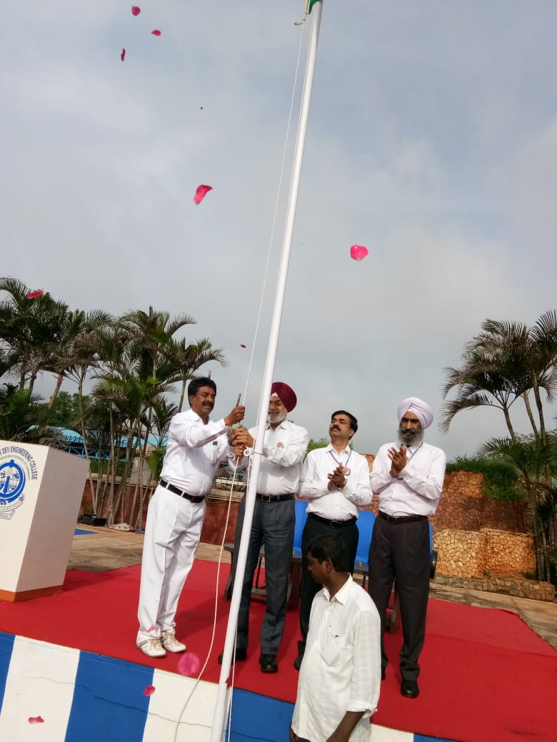 Celebration of 73rd Independence Day at GNDEC Campus