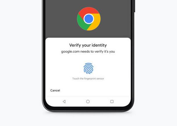 Chrome للآندرويد: ″بصمة الإصبع″ طريقة جديدة للدفع الآمن عبر الإنترنت