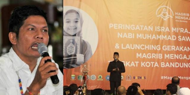 """Astaghfirullah!! Orang Ini Sebut Ridwan Kamil Jual Agama dengan Program """"Maghrib Mengaji"""""""