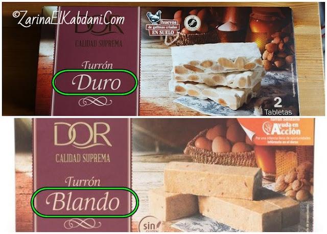 Turron Duro vs Blando