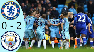 chelsea 0-2 manchester city community shield 5 agustus 2018