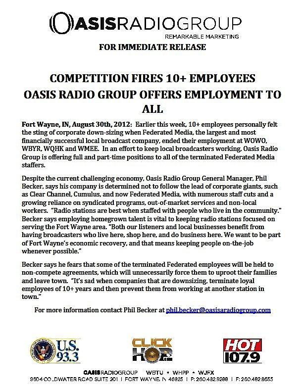 Oasis Radio Group 65