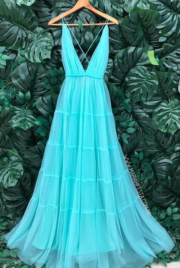vestido longo tiffany