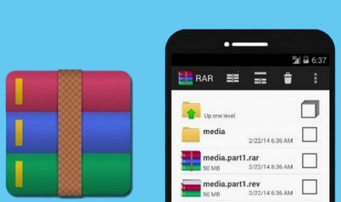 Aplikasi Extractor Terbaik tuk Smartphone Android - RAR