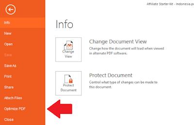 klik file pilih optimize pdf