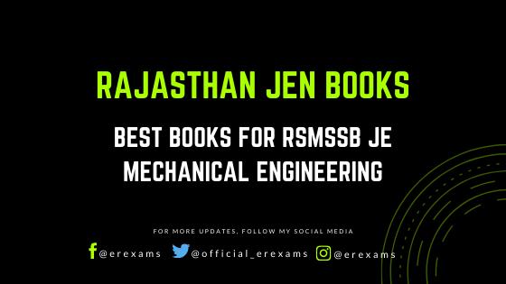 Best Books for RSMSSB JE Mechanical Engineering