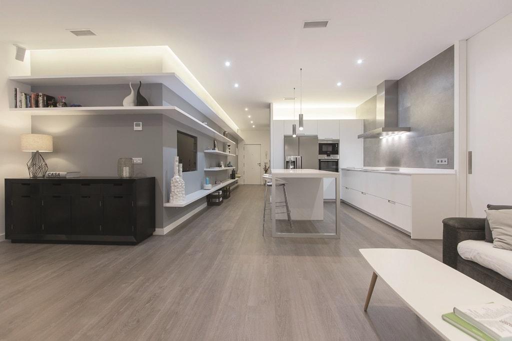 El sal n y la cocina frente a frente cocinas con estilo Cocinas abiertas con isla