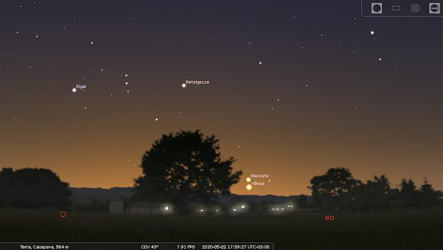 Adeus Vênus, Olá Mercúrio! O planeta mais interno rouba os holofotes nas próximas semanas: 😀✌
