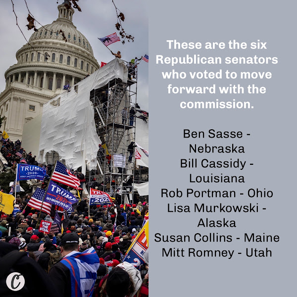 These are the six Republican senators who voted to move forward with the commission. — Madison Hall, Business Insider Junior Data Reporter