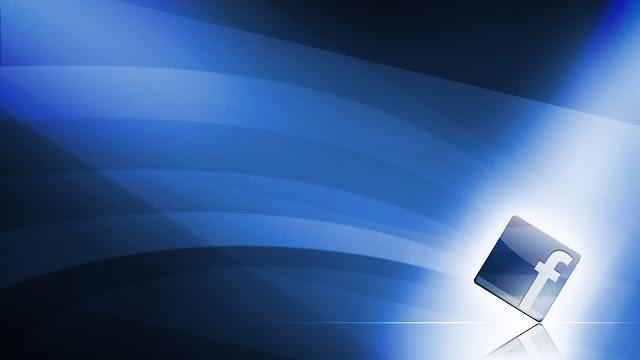 Blauwe Facebook achtergrond met logo