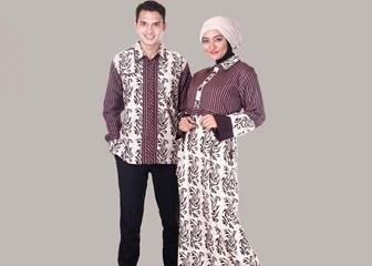 Contoh Batik Couple Lengan Panjang