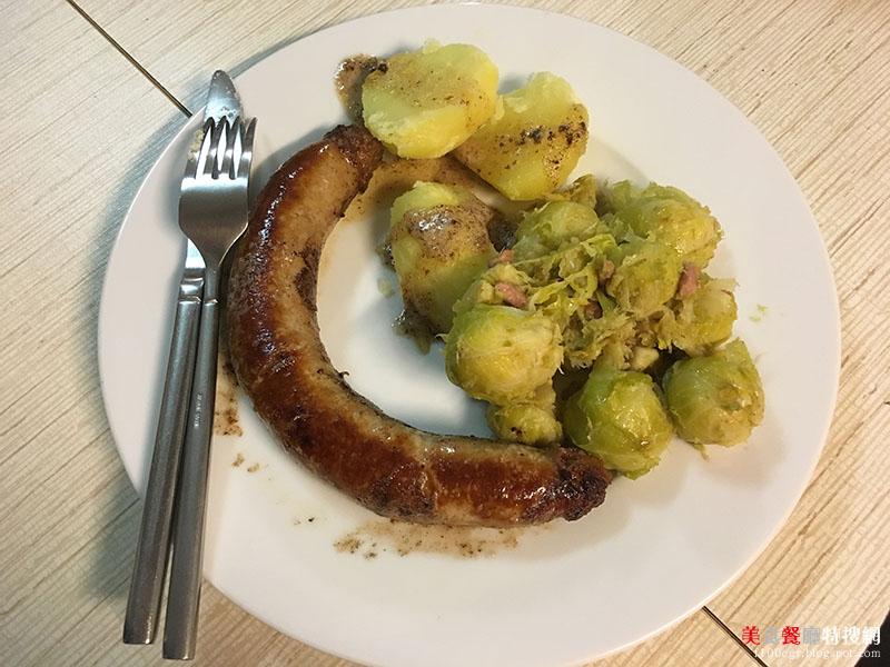 [食譜] 比利時當地家常料理 - Braadworst met Spruiten