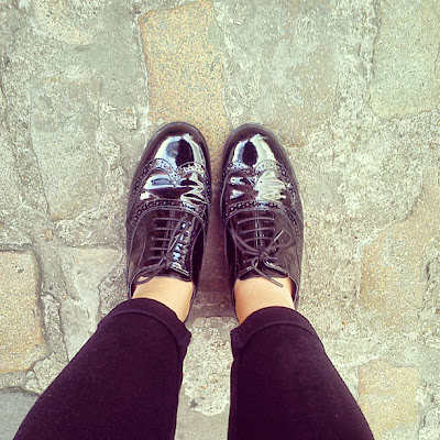 shiny brogues
