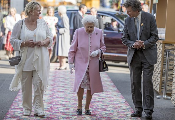 Countess Sophie wore ZIMMERMANN Lace Midi Dress. Queen Elizabeth II, Princess Anne, Princess and Prince Michael of Kent and Princess Beatrice