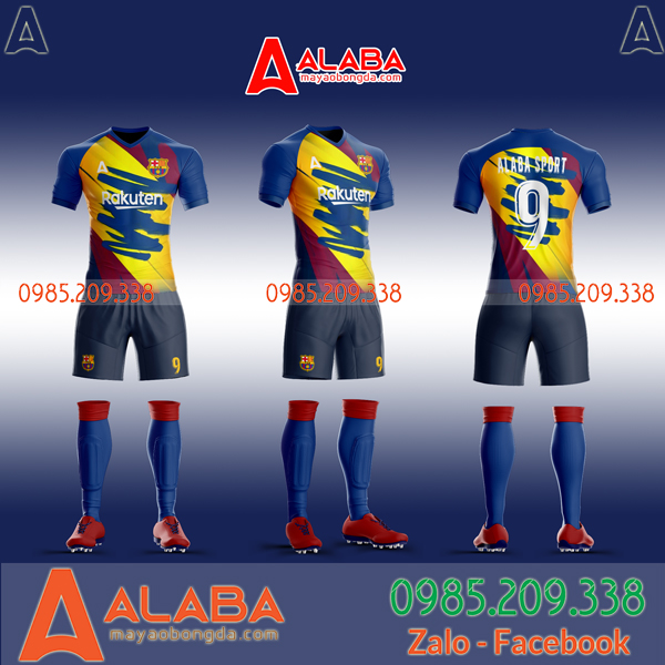 Áo CLB Barca tự thiết kế mã ALB BA03