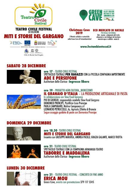 Miti e storie del Gargano: A Monte Sant'Angelo torna il Teatro Civile Festival