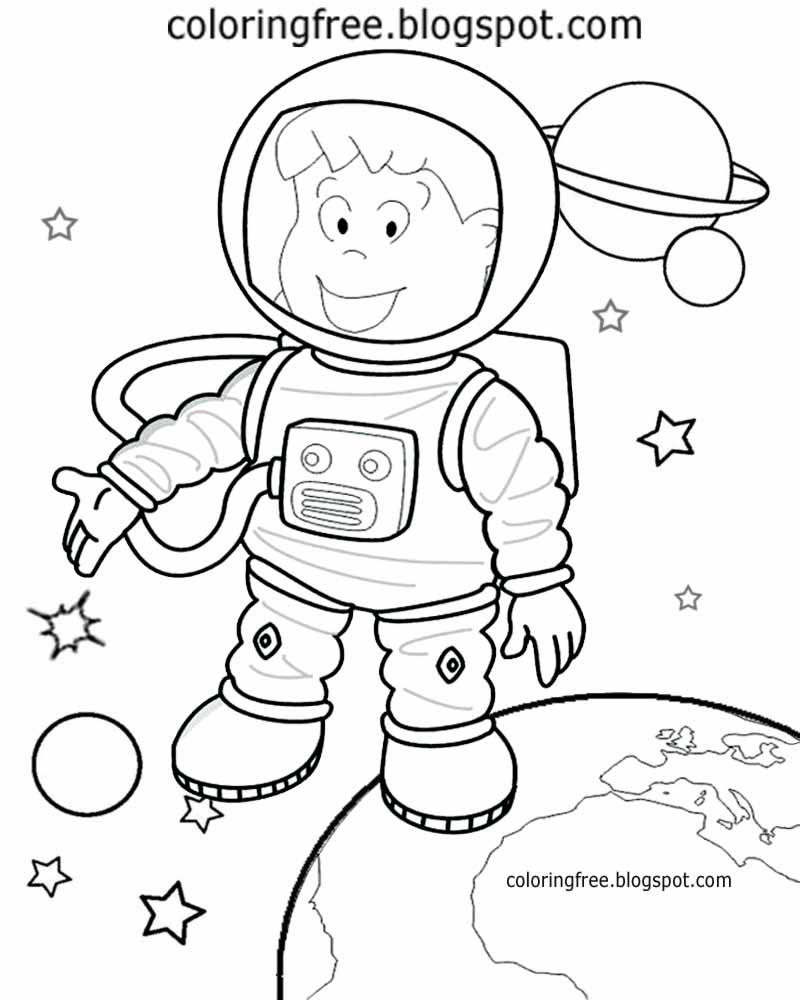 Astronaut Coloring Page Printable