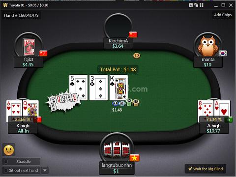 Ván bài Blackjack tại w88