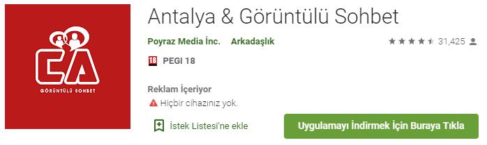 Antalya Görüntülü Sohbet