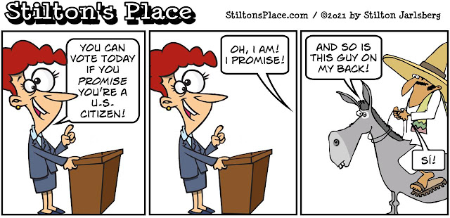 stilton's place, stilton, political, humor, conservative, cartoons, jokes, hope n' change, HR1, voting, Democrats, Pelosi, fraud
