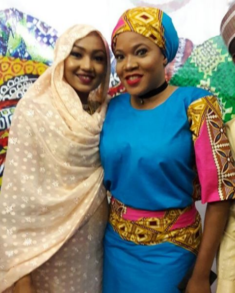 Toyin Aimakhu pictured with Zahra Buhari(Photos)