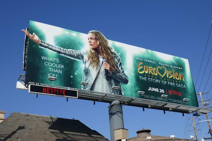 Rachel McAdams Eurovision billboard