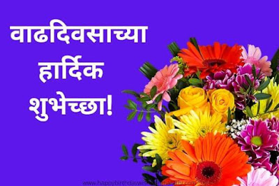 happy birthday in marathi text