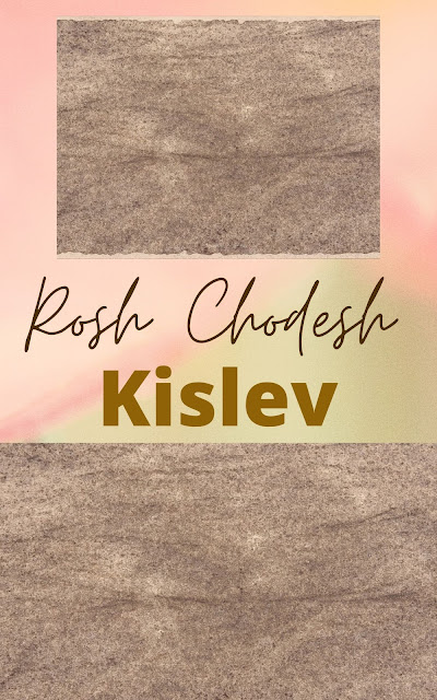 Happy Rosh Chodesh Kislev Greeting Card | 10 Free Modern Cards | Happy New Month | Ninth Jewish Month