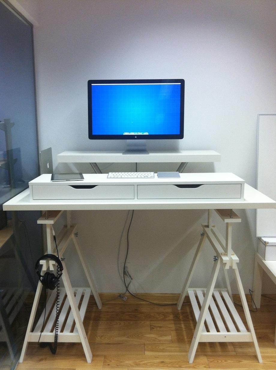Corner Amp Extra Tall Standing Desks Get Home Decorating