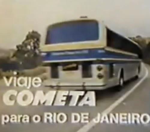 Campanha para promoção da rota Rio-São Paulo da Viação Cometa nos anos 70. Juntamente com a rota, promoviam o conforto e modernidade do Flecha Azul