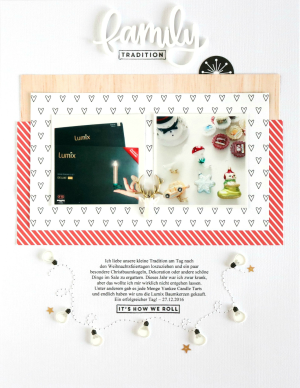 Family Tradition   Scrapbooking Layout   Felicity Jane