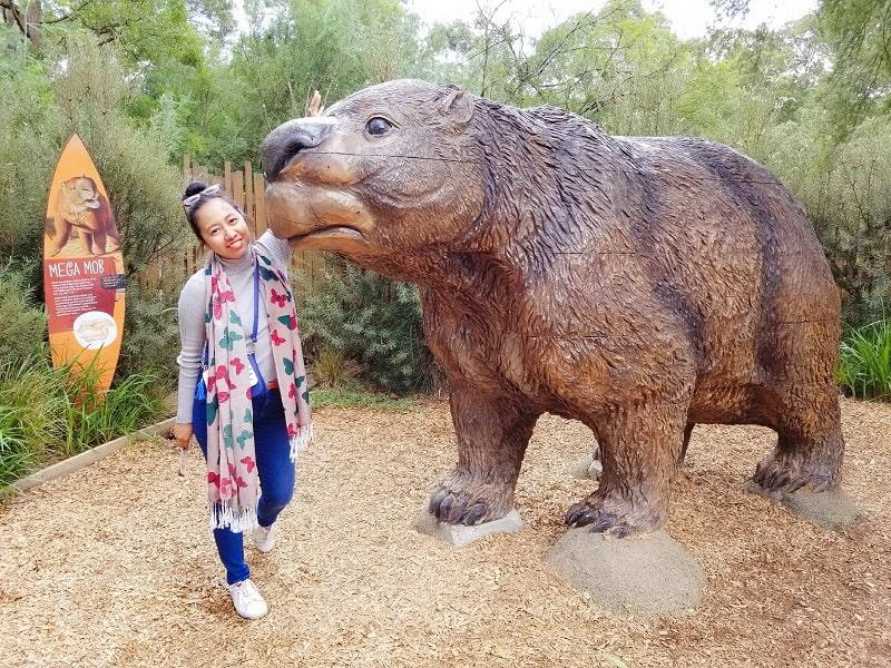 girl and animal statue