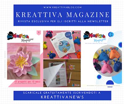 Kreattiva Magazine in regalo con newsletter KreattivaNews