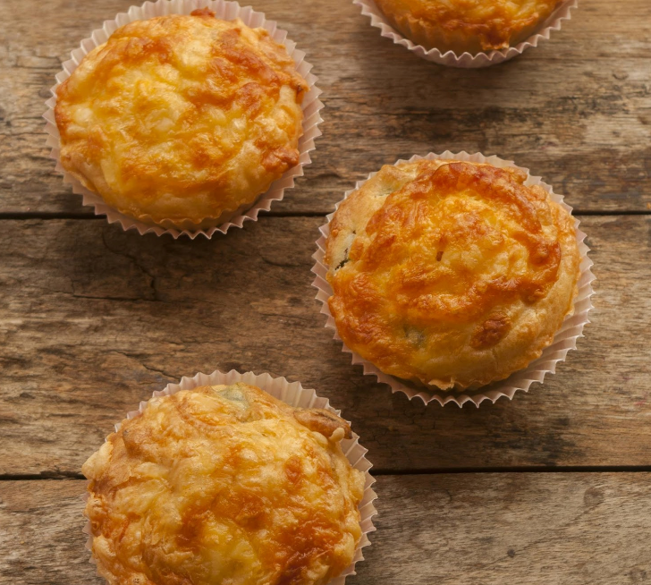 Egg muffins loaded with cheese and bacon!