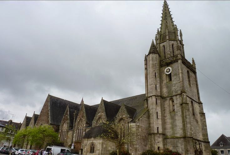 La Iglesia de Notre-Dame de Joie de Pontivy.