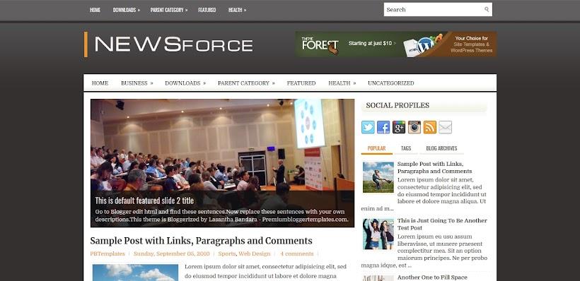 NewsForce Free Blogger Template