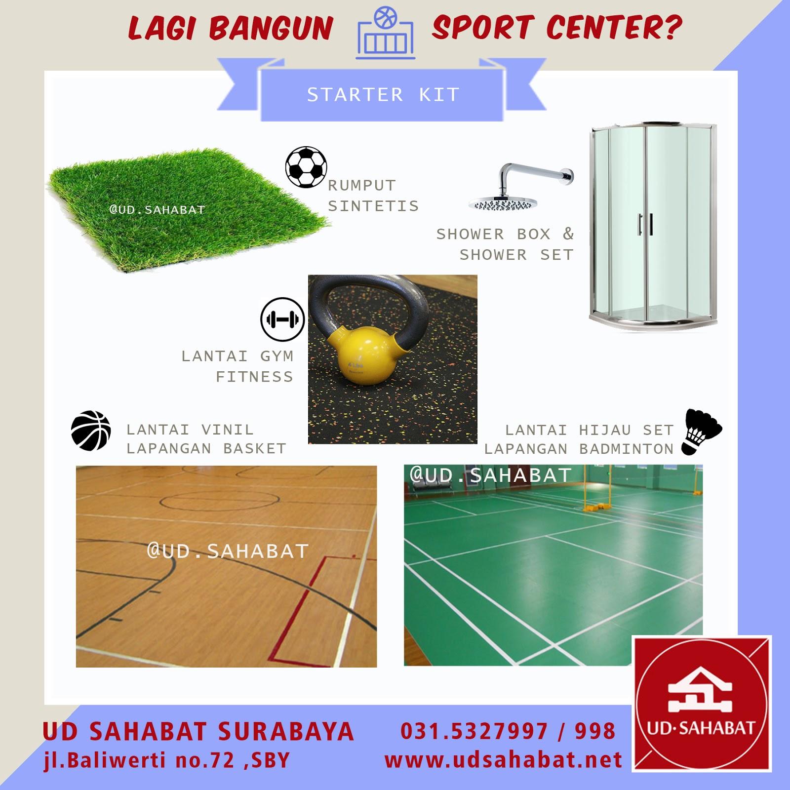 jual lantai badminton lapangan olahraga gym surabaya