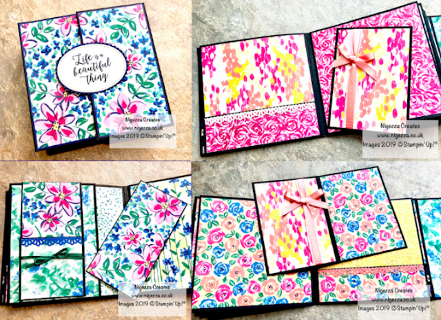 Nigezza Creates with Stampin' Up! Garden Impressions Mini Album
