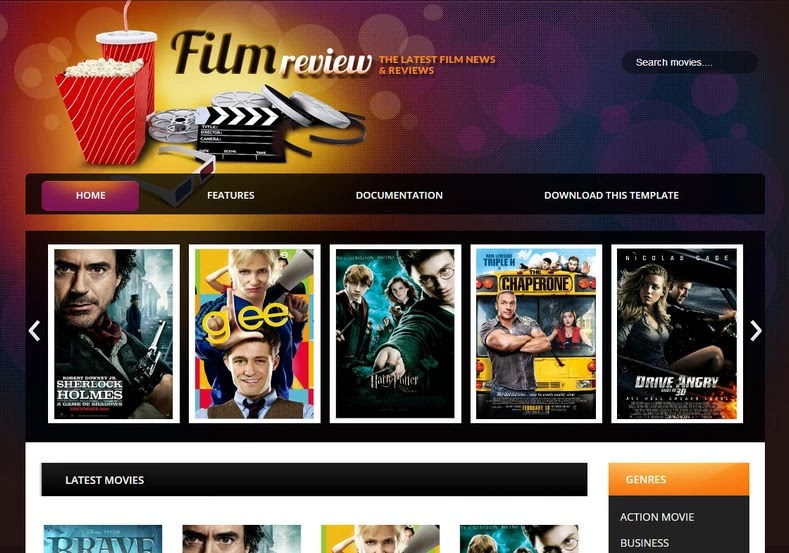 Film Review Blogger Template