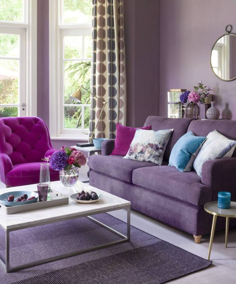 Best Purple Living Room Ideas