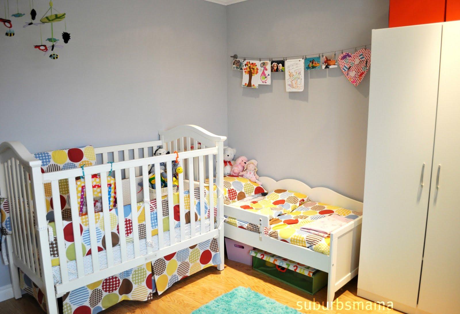 Suburbs Mama Shared Kids Room Tour