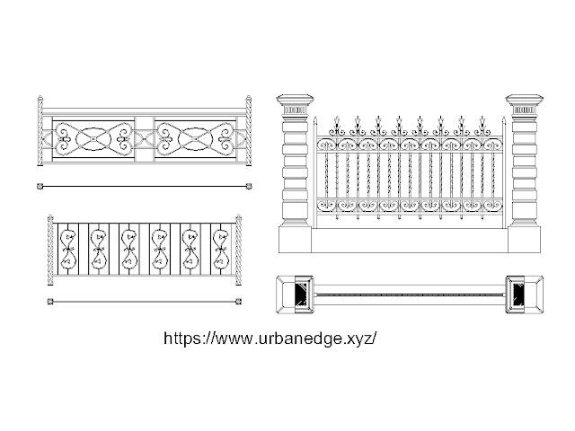 Fence cad blocks